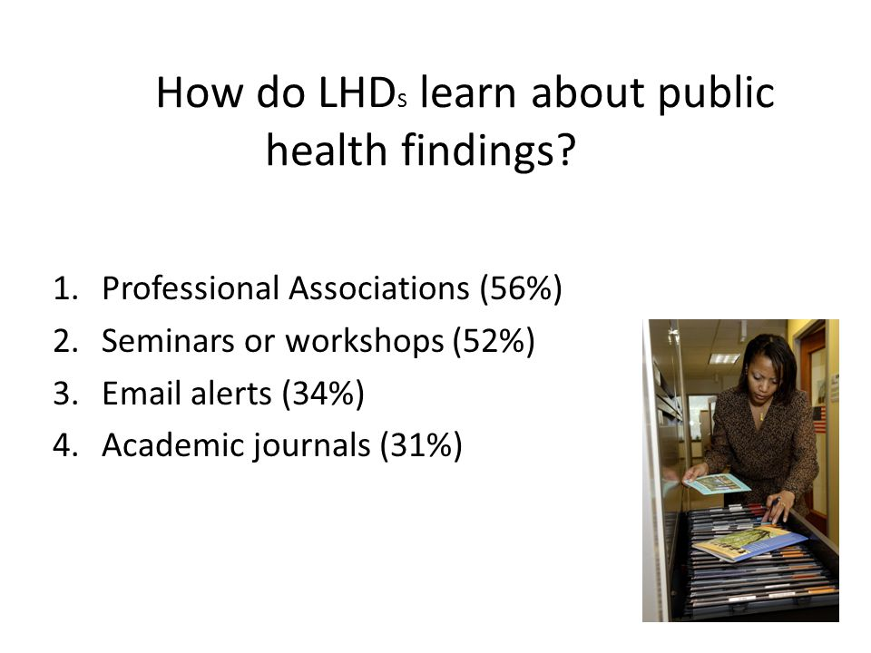 How do LHDS learn about public health findings