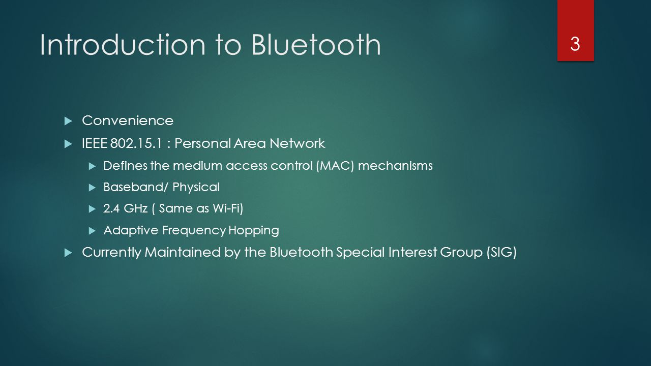 Introduction to Bluetooth