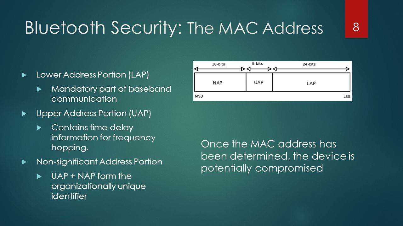 Bluetooth Security: The MAC Address