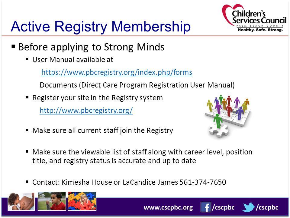 Active Registry Membership