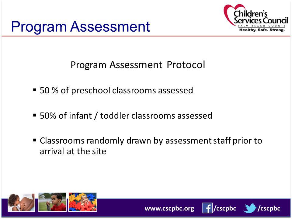 Program Assessment Program Assessment Protocol