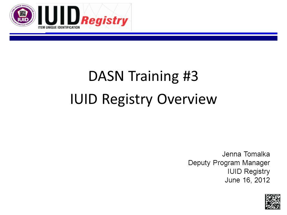 IUID Registry Overview