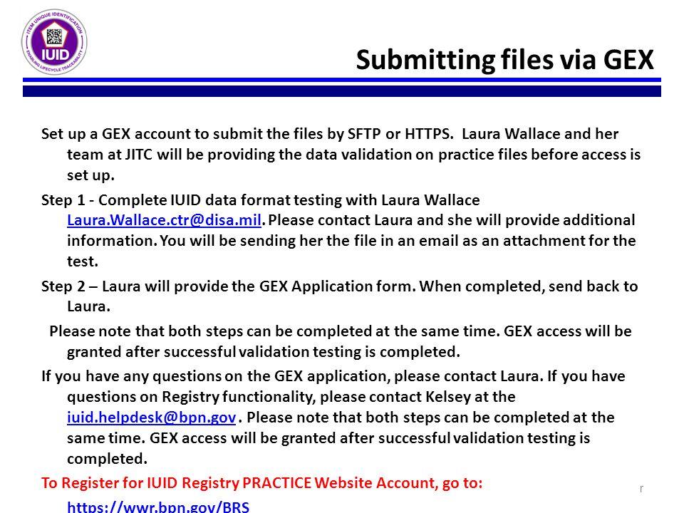 Submitting files via GEX