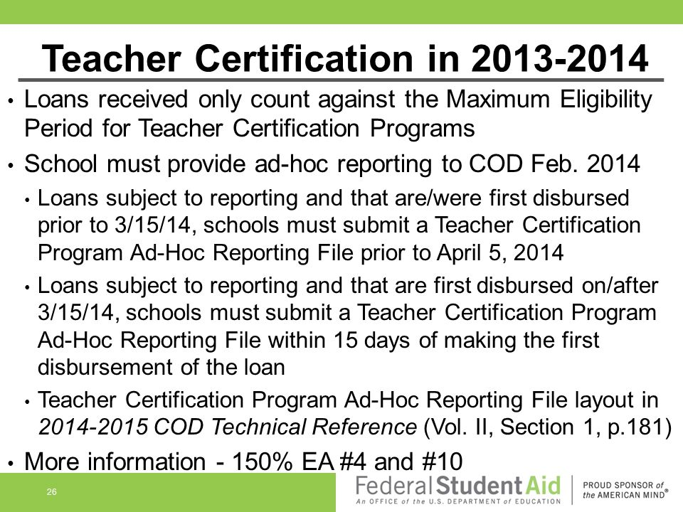 Teacher Certification in 2013-2014