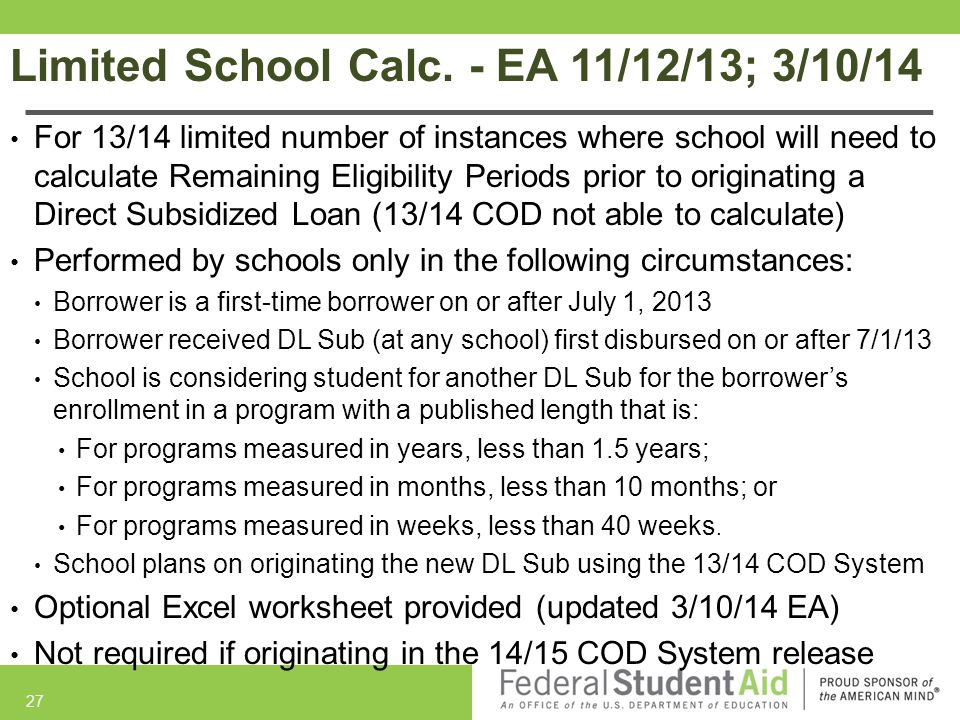 Limited School Calc. - EA 11/12/13; 3/10/14