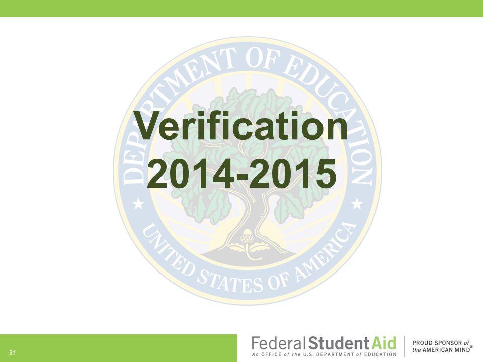Verification 2014-2015