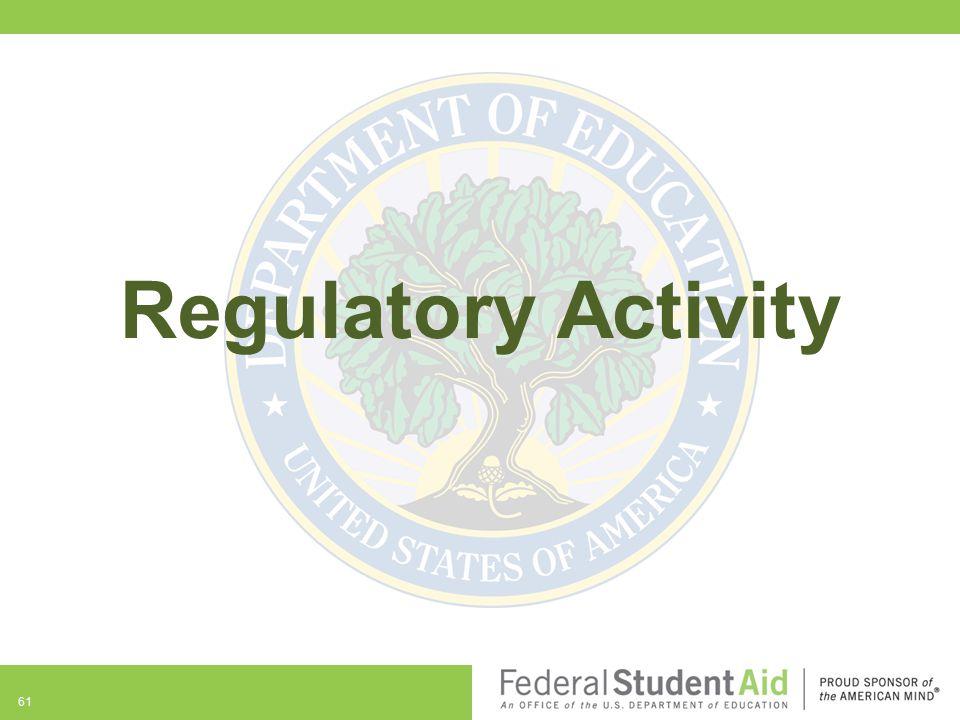 Regulatory Activity