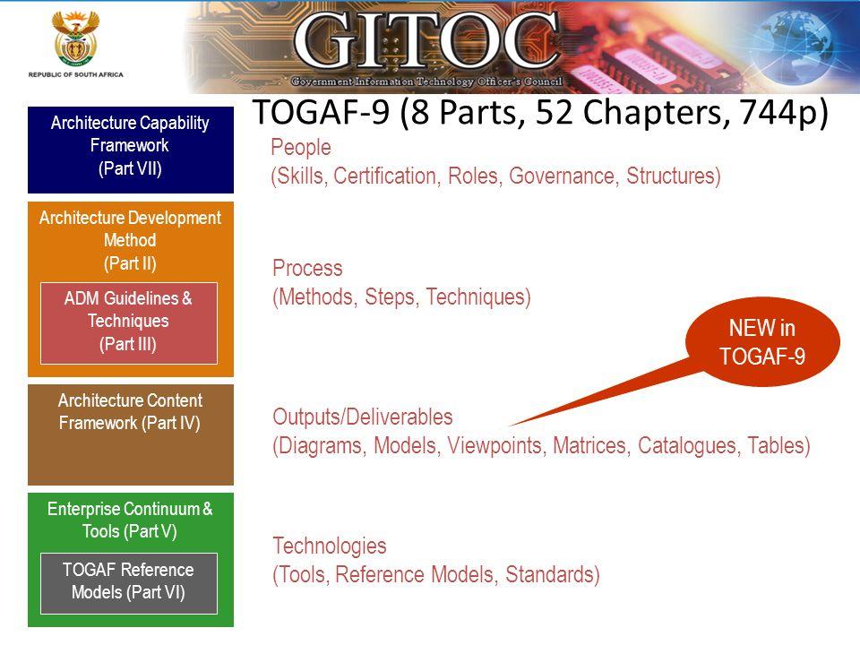 TOGAF-9 (8 Parts, 52 Chapters, 744p)