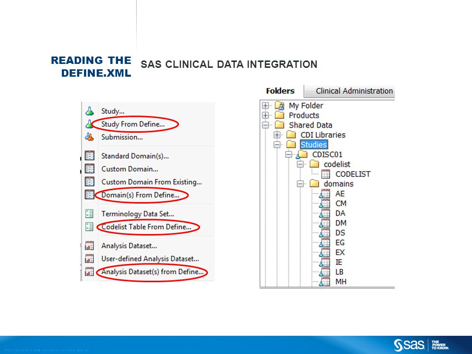 Reading The define.xml SAS Clinical Data Integration