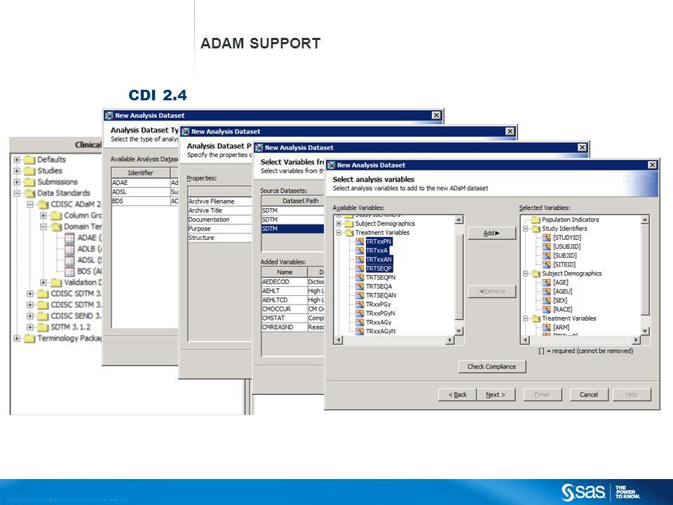 ADaM Support CDI 2.4