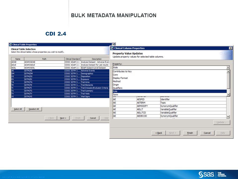 Bulk Metadata Manipulation