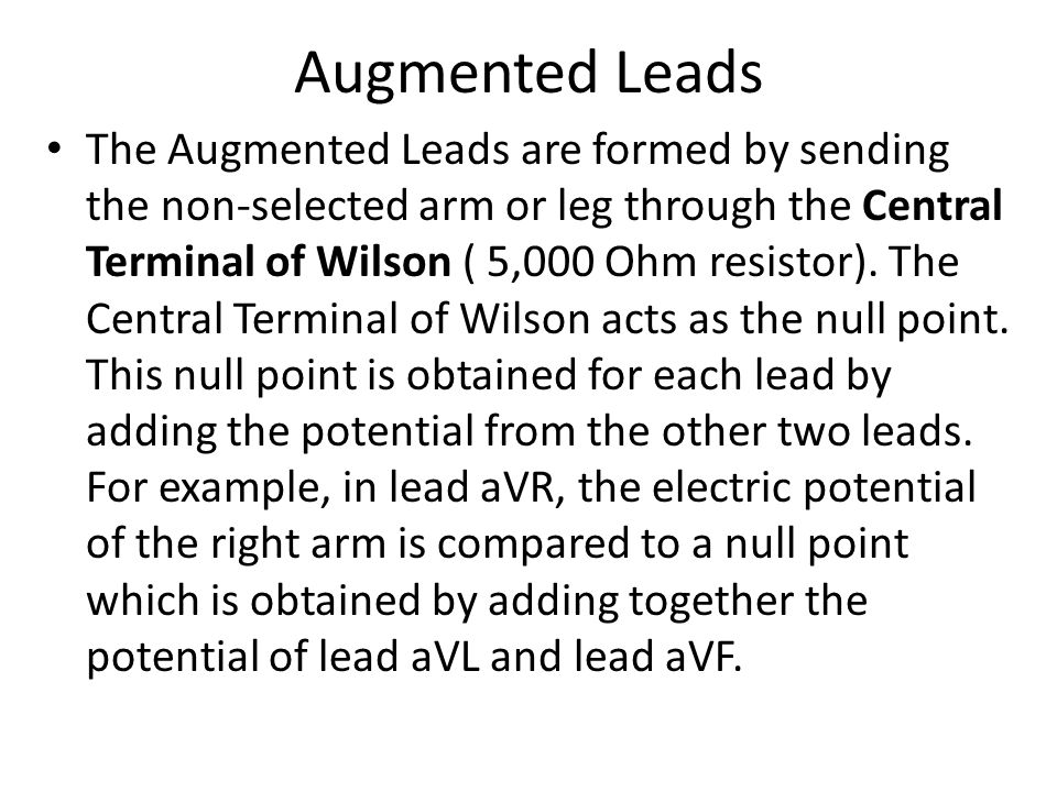 Augmented Leads