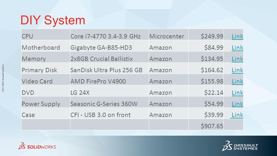 DIY System CPU Core i7-4770 3.4-3.9 GHz Microcenter $249.99 Link