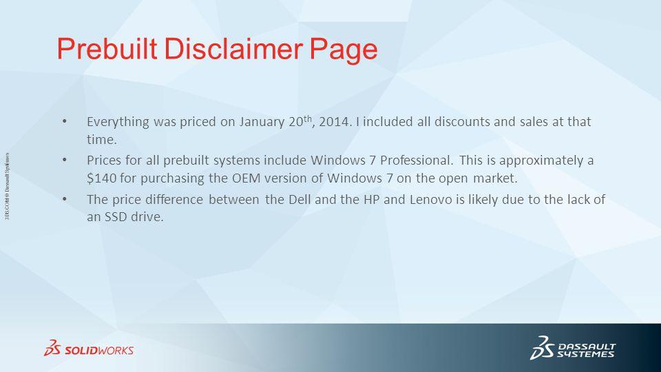Prebuilt Disclaimer Page