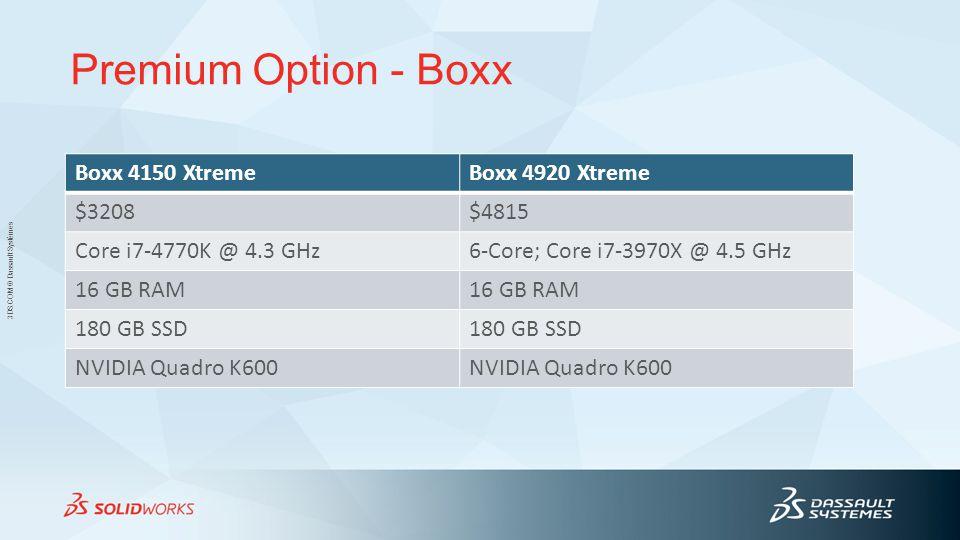 Premium Option - Boxx Boxx 4150 Xtreme Boxx 4920 Xtreme $3208 $4815