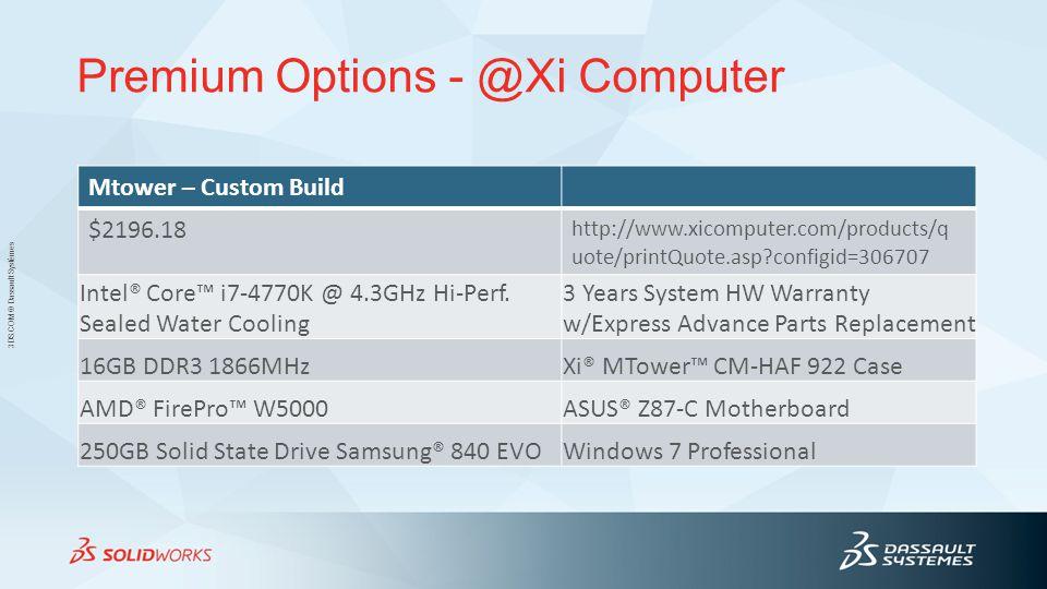Premium Options - @Xi Computer