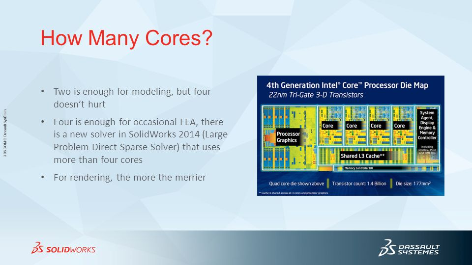 How Many Cores Two is enough for modeling, but four doesn't hurt