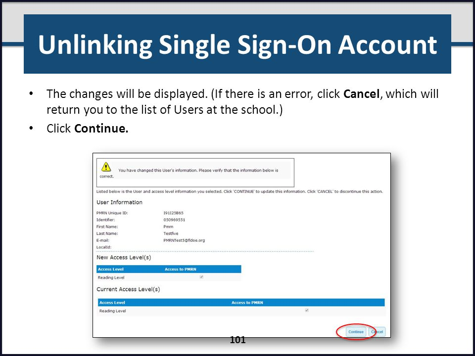 Unlinking Single Sign-On Account