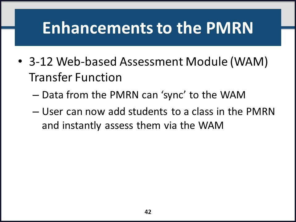 Enhancements to the PMRN