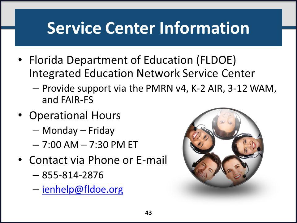 Service Center Information