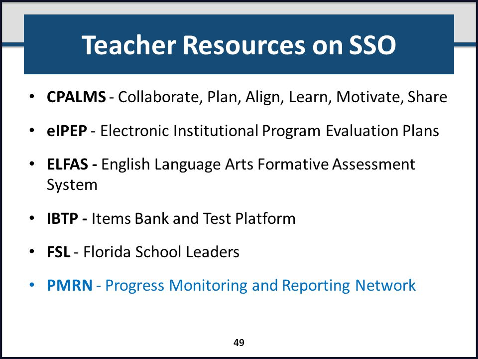 Teacher Resources on SSO