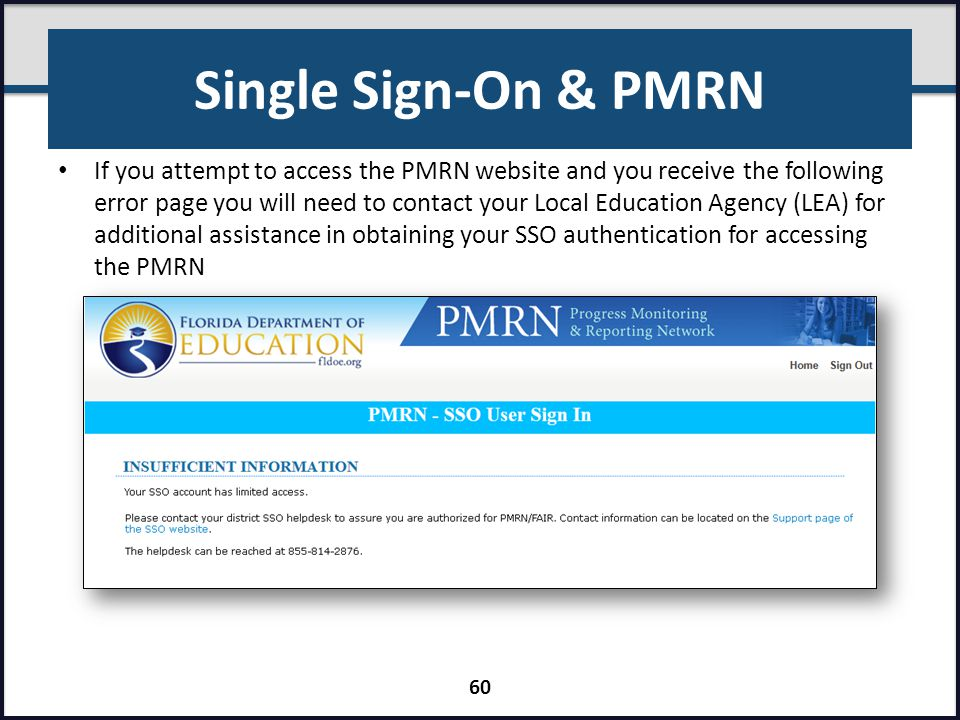 Single Sign-On & PMRN