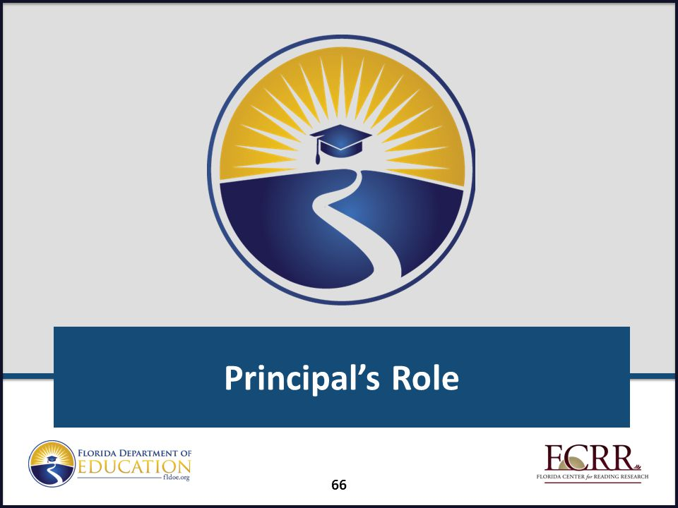 Principal's Role FAIR-FS Train-the-Trainer July 2014
