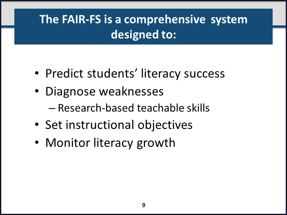 The FAIR-FS is a comprehensive system designed to:
