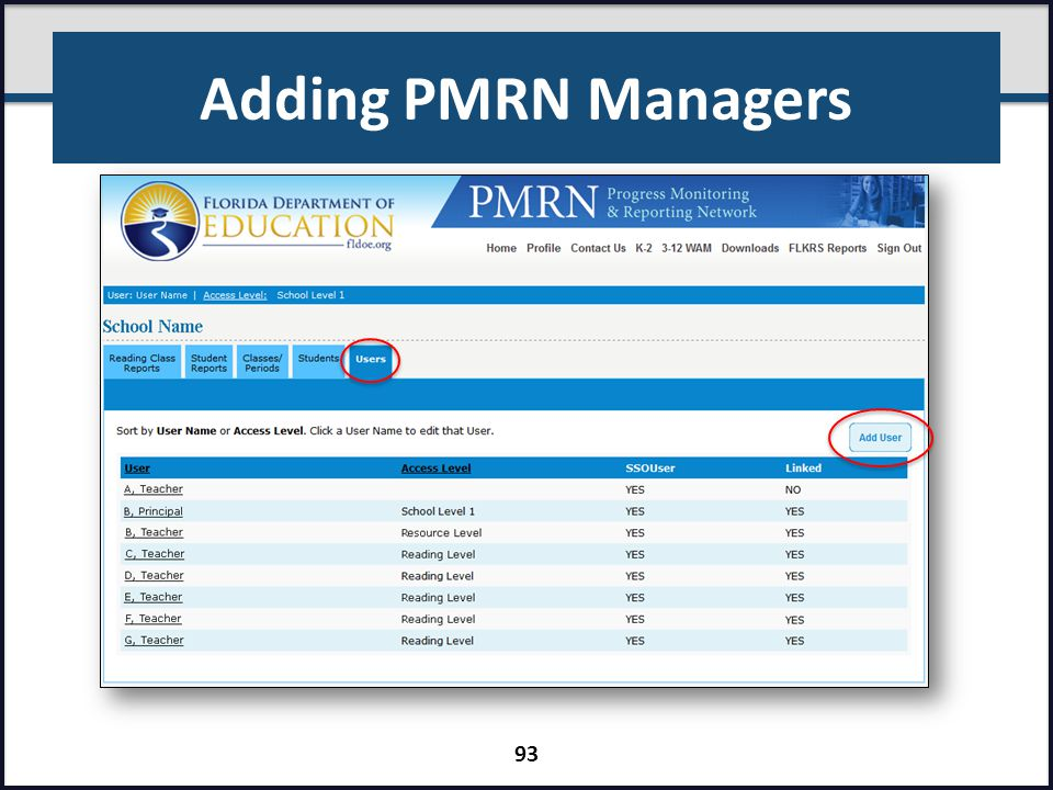 Adding PMRN Managers Presenter: