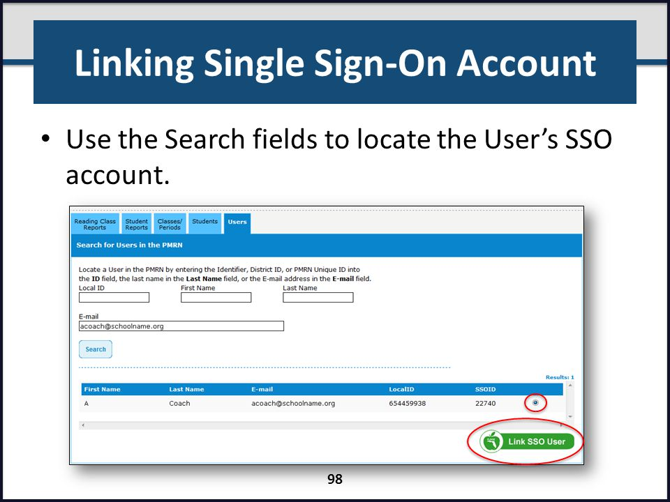 Linking Single Sign-On Account