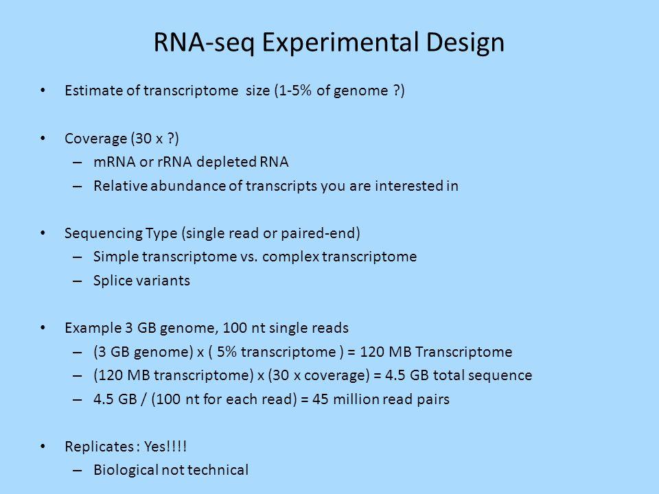 RNA-seq Experimental Design