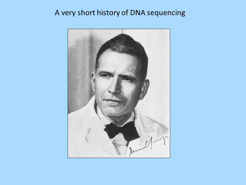 A very short history of DNA sequencing