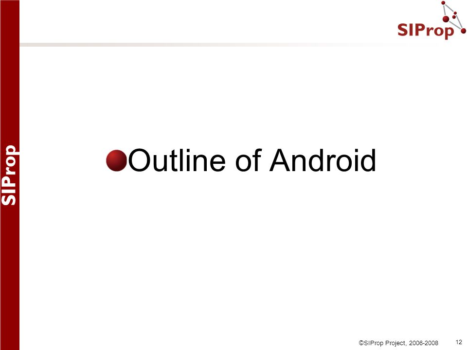 Outline of Android
