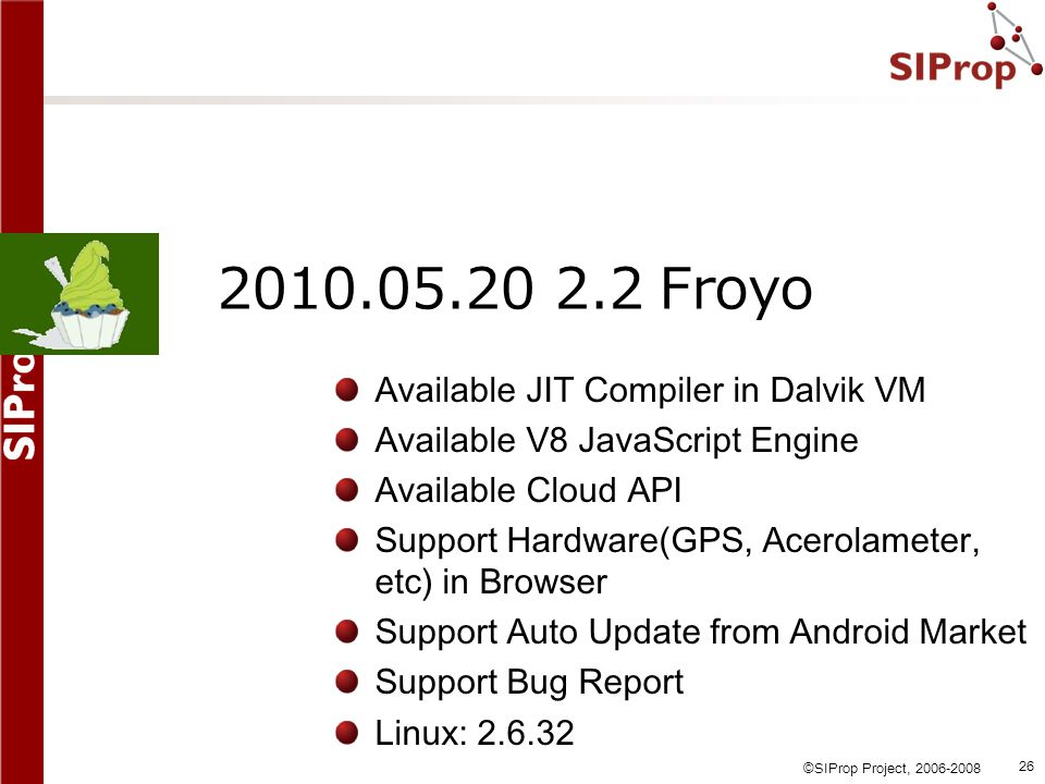 2010.05.20 2.2 Froyo Available JIT Compiler in Dalvik VM