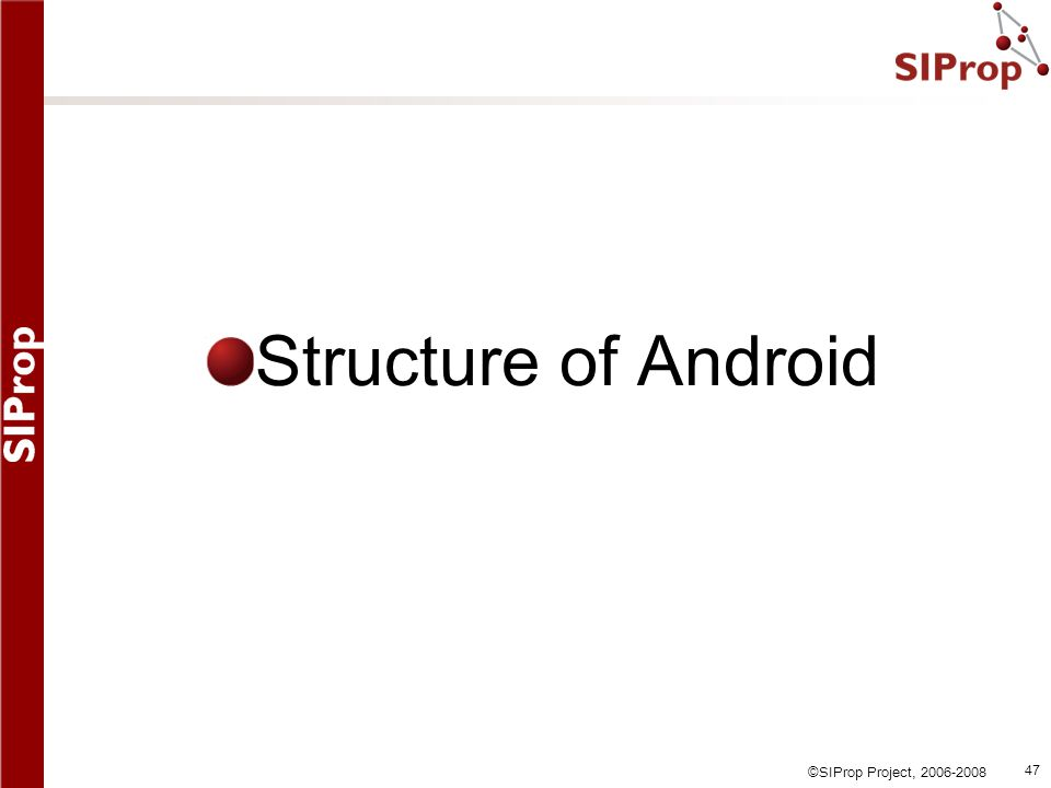 Structure of Android