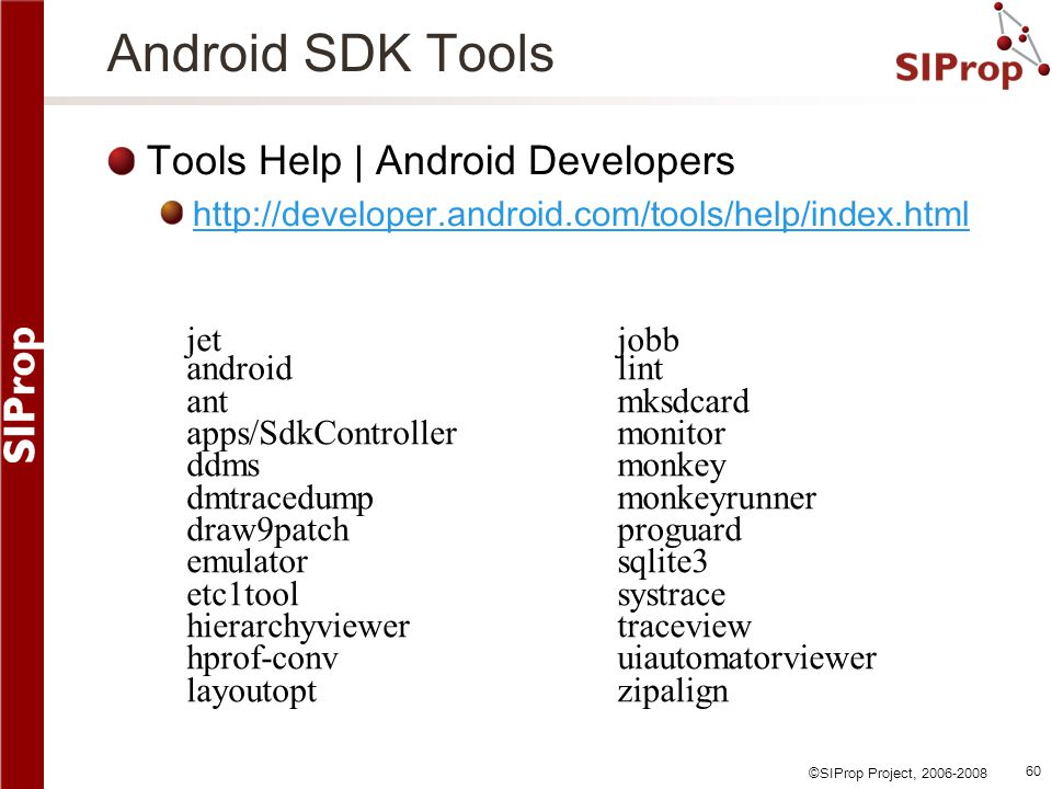 Android SDK Tools Tools Help | Android Developers