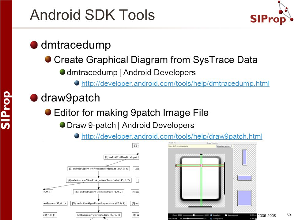 Android SDK Tools dmtracedump draw9patch