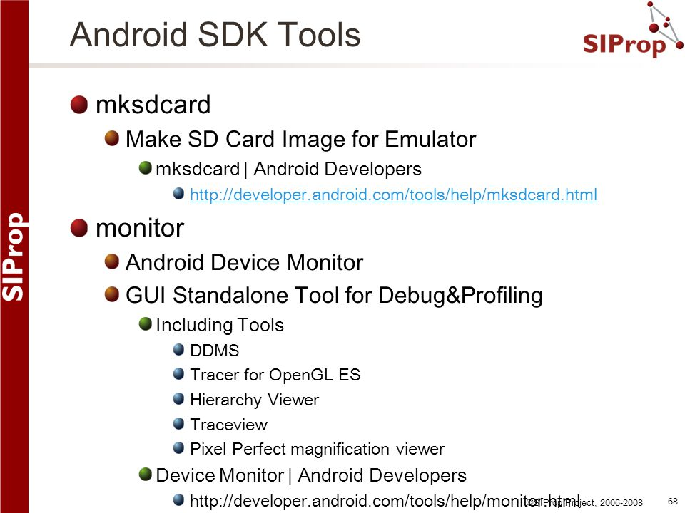 Android SDK Tools mksdcard monitor Make SD Card Image for Emulator