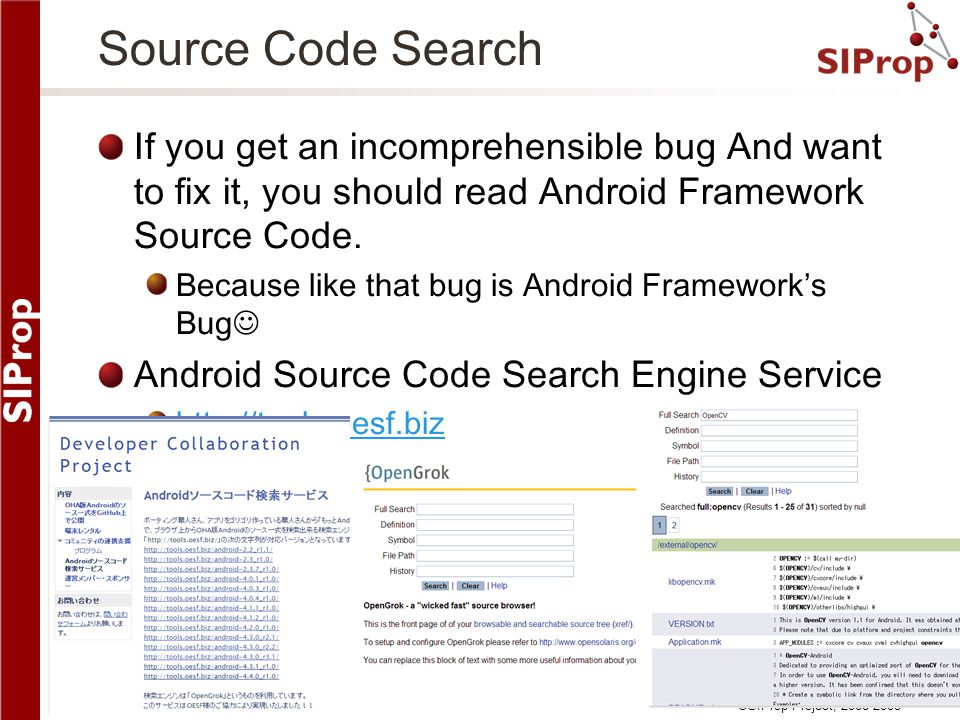 Source Code Search If you get an incomprehensible bug And want to fix it, you should read Android Framework Source Code.