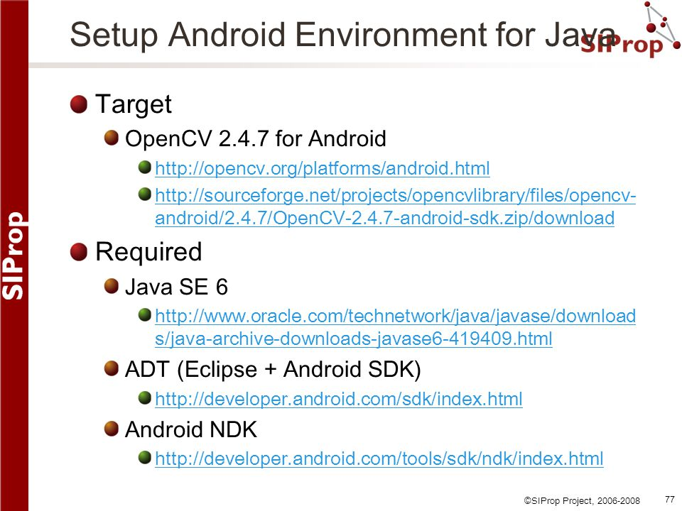Setup Android Environment for Java