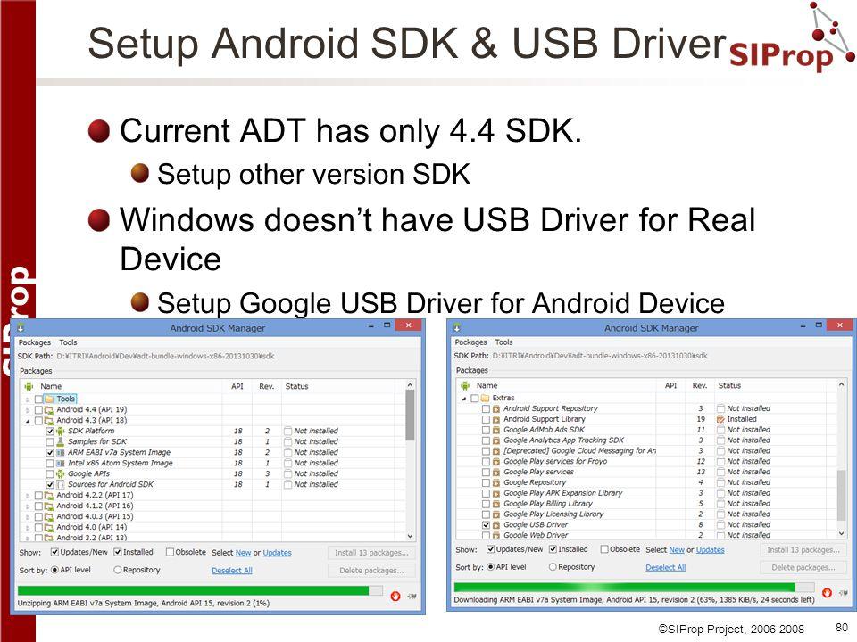 Setup Android SDK & USB Driver