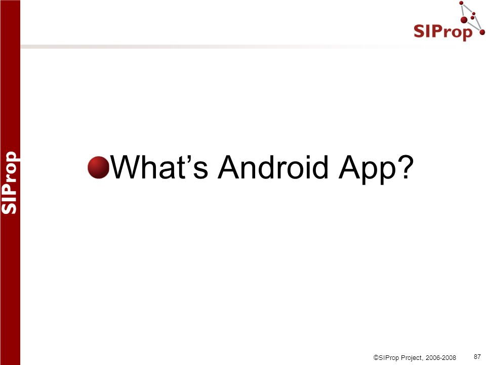 What's Android App
