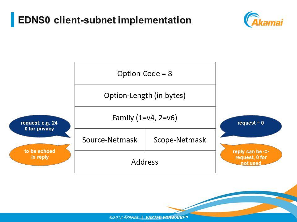 EDNS0 client-subnet implementation