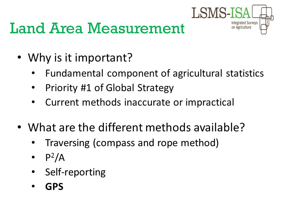 Land Area Measurement Why is it important