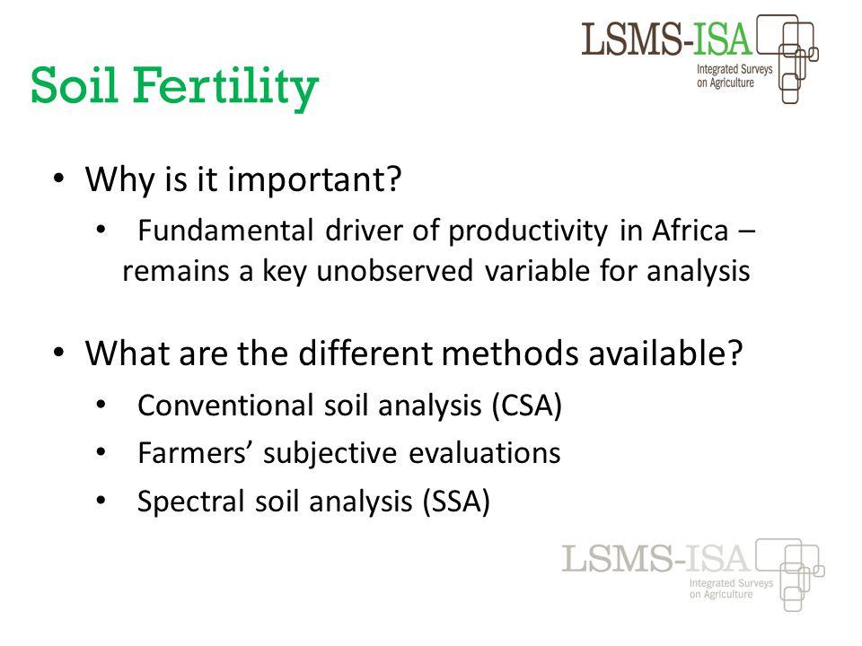 Soil Fertility Why is it important