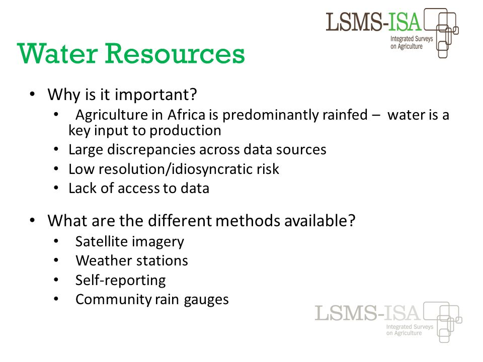 Water Resources Why is it important