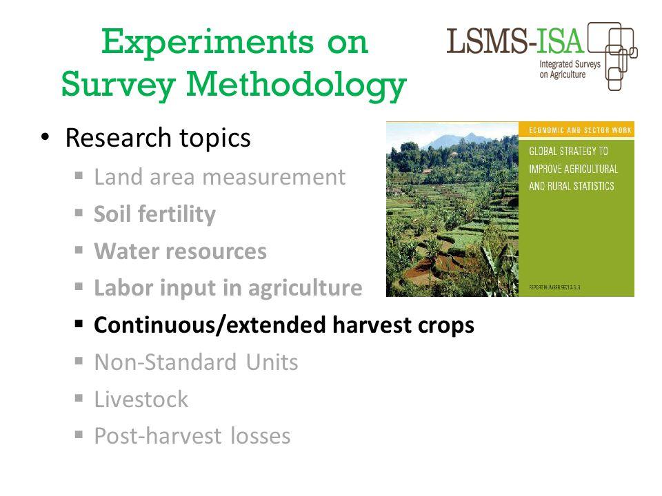 Experiments on Survey Methodology