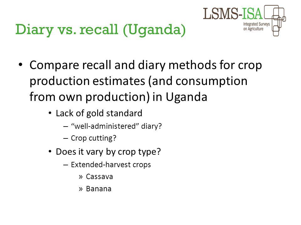 Diary vs. recall (Uganda)