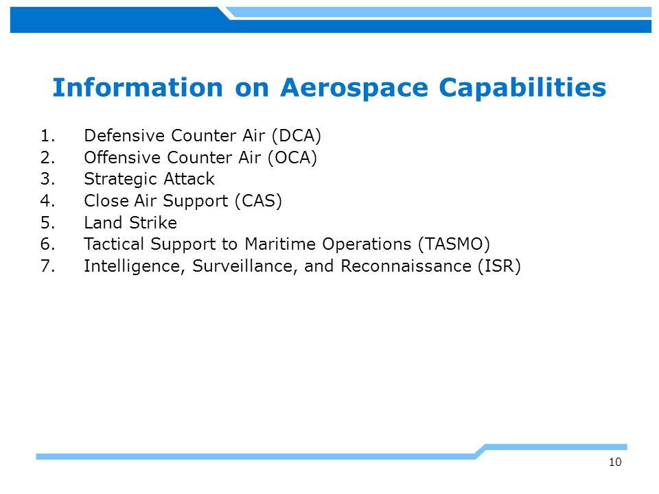 Information on Aerospace Capabilities