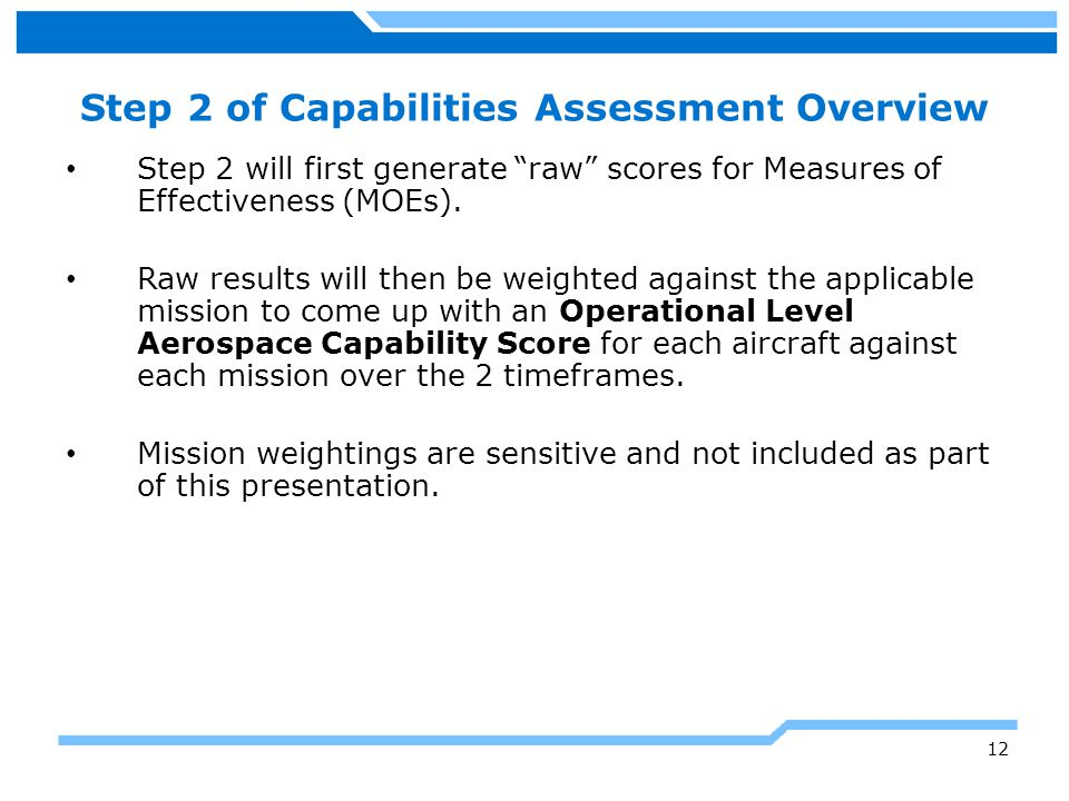 Step 2 of Capabilities Assessment Overview